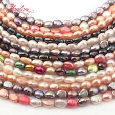"""NATURAL FREEFORM CULTURED FRESHWATER PEARL GEMSTONE SPACER BEADS STRAND 15"""""""