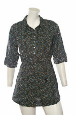 SALE NOW £9.99 Ladies EX chain store Black floral tunic with tie waist