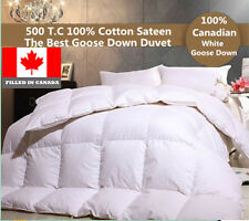 THE BEST CANADIAN WHITE  GOOSE DOWN DUVET COMFORTER  750 LOFT  FILLED IN CANADA