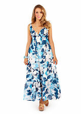 Maxi Dress Womens Summer Hand Printed Lovely Plus Size 8 10 12 14 16 18 20 22