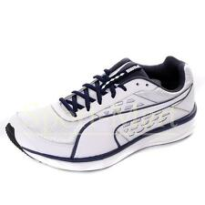 mens Puma Gility Speed White/Navy Lace Up Cross Running Trainers Mens Size
