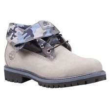 Timberland Roll Top Earthkeepers Mens Size Gray Nubuck Camo Boots Style 6459A
