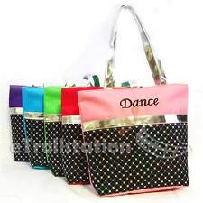 Stylish Girls Kids Nylon Dance Tote Bag Laser Sequined Silver Metallic Sequin