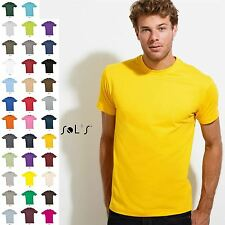 Mens Cotton T-Shirt Short Sleeve Plain Summer Top New XS-3XL 4XL 5XL New By Sols