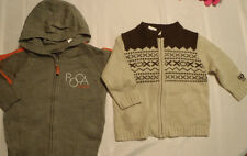 IZOD Zip Front Sweater Pockets or Roca Wear Hooded NWT 12 18 or 24 Month