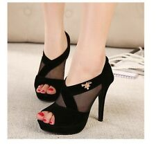 New arrival Hot Women Vogue New Style Strap High Heels Platform Pumps Shoes GIFT