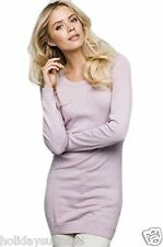 NEW LADIES WOMANS ANYTIME LONG JUMPER DRESS PINK PLUS SIZE 8-30 UK 36-58 EU