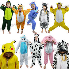 Kids Childrens Animal Zoo Onesie Pyjamas Fancy Dress Costume Onesies Kigurumi
