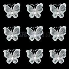 50± Glitter Wired Mesh Stocking Butterfly Wedding Invitations Card Making 3x2cm