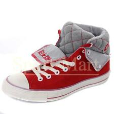 Mens Converse Padded Collar Red/White Peel Back Mid Suede Trainers Mens Shoes Si