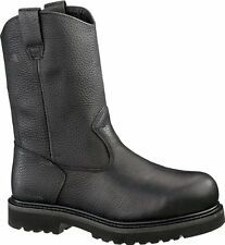 "Men's Work-Welt Steel Toe Wellington 10"" Safety Boots - Black"