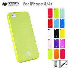 iPhone 4 4s Case Mercury Goospery Soft Glossy Jelly Silicone Gel TPU Cover