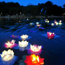 Paper Lotus Flower Wishing Lamp Floating Water Light Chinese Party Lantern CY587