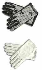 "8"" LACE Wrist length strech Gloves for Wedding Bridal Prom Costume"