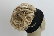 New short & Curly Elastic Instant Hairdo Synthetic Scrunchies Bun Ponytail