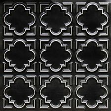 3D Embossed PVC Decorative Ceiling Tile Antique Copper or Black