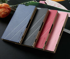 Luxury Slim Flip PU Wallet Leather Case Cover For T-Mobile Sony Xperia Z1S C6916