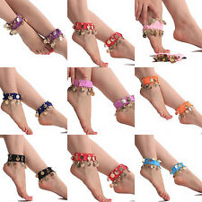 Belly Dance Anklets Dancewear Chiffon Coins Foot Chain Indian Gypsy Ankle Chain