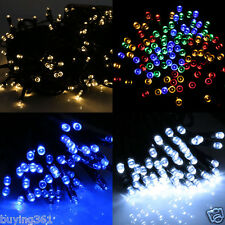 100 200 LED Strip Solar Power Fairy String Xmas tree Party Lights Garden Outdoor