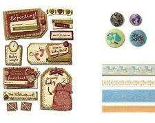 BABY & MATERNITY Scrapbook EMBELLISHMENTS ~ BRADS STICKERS by Karen Foster