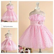 U P1688 Pinks Wedding Party Dress Flower Girls Pageant Dresses Age SIZE 1 to 12Y
