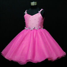 HP875 Hot Pinks Wedding Party Dress Flower Girls Pageant Dresses Age SZ 2 to 10Y
