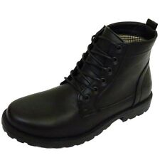 MENS BLACK EX DESIGNER LACE-UP COMBAT MILITARY ARMY ANKLE BOOTS SHOES SIZES 6-12