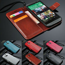 Luxury Leather Flip Card Wallet Case Stand Cover Skin For HTC ONE M8