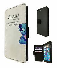 Ohana Family Quote Cute iphone 4 5 5S 5C iphone 6/ 6 Plus Case Flip Card Purse