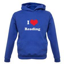 I Love Reading - Kids / Childrens Hoodie - Gift / Book - Festival - 7 Colours