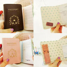 Simple Design Travel Passport ID Credit Card Cover Holder Case Protector BI4U