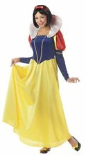 DELUXE ADULT CLASSIC SNOW WHITE FANCY DRESS COSTUME LONG DRESS  ALL SIZES