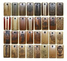 Real Genuine Neutral Wood Bamboo Combo Hard Case Cover F Samsung Galaxy S4 i9500