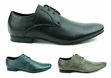 Mens Leather Lined Plain Lace Up Formal Dress Pointed Shoes Size 6 7 8 9 10 11