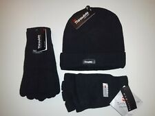 3 pc Knitted Acrylic Thinsulate Beanie Full finger glove & cut finger gloves