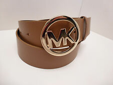MICHAEL KORS Women's Belt ~Genuine Leather Luggage w/ Gold Buckle Sz S M L XL