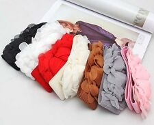 New Lady Vintage Flower Elastic Stretch Wide Waist Belt Waistband Bowknot
