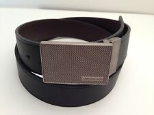 CALVIN KLEIN Men's Belt *Black~Brown Reversible w/Flat Grey Buckle*  Various Sz