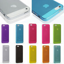 Transparent Clear 0.3mm Ultra Thin Back Plastic Case Cover Skin For iPhone 5 5S