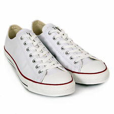 Converse Unisex All Star Leather Ox Lace-Up Trainer Optic White