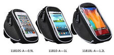 Black Bike Bicycle PU Handlebar BagTouch Case For iphone 4/5/5S Samsung S3/4 HTC