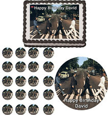BEATLES ABBEY ROAD Edible Cake Topper Cupcake Image Decoration Birthday