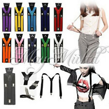 17 Colors Braces Suspenders Adjustable Unisex Neon UV Dress & Plain Y Back Y