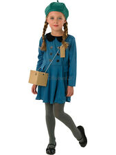 Child Evacuee Girl Outfit Fancy Dress Costume Book Week 20s 40s World War 2 Kids
