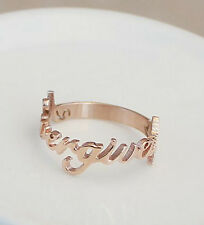 "Korea Simple Letter ""Never Give Up"" Or ""I think I can"" Lady Ring 2 Size"