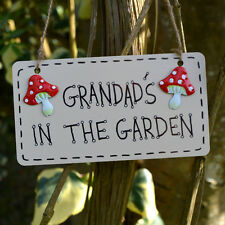 Grandads In The Garden Shed Greenhouse Plaque Sign Gardener Gardening Present