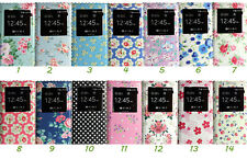 Slim Flowers Smart View Screen Leather Case Battery Cover For Samsung Galaxy