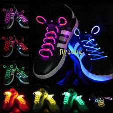 2PC LED Flash Light Up Glow Shoelaces Shoe Laces Strings Disco Party Pub Skating
