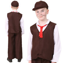 KIDS VICTORIAN COSTUME BOYS POOR BOY HISTORIC FANCY DRESS BOYS BOOK WEEK