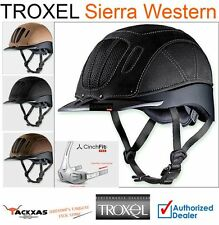 TROXEL HELMETS SIERRA LEATHER CORDURA CINCHFIT PRO VENTED WESTERN HORSE RIDING